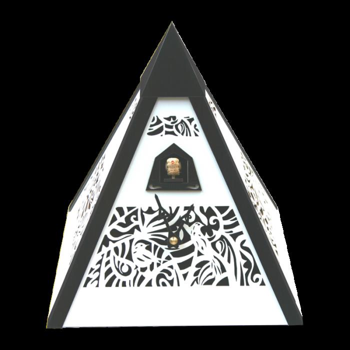Rombach /& Haas Moderne Kuckucksuhr Ornamente Zeit der Pyramide rot Quarzwerk 25 cm